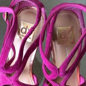 Dolce Vita Shoes - Fuschia suede stiletto sandals. Sz 6.5